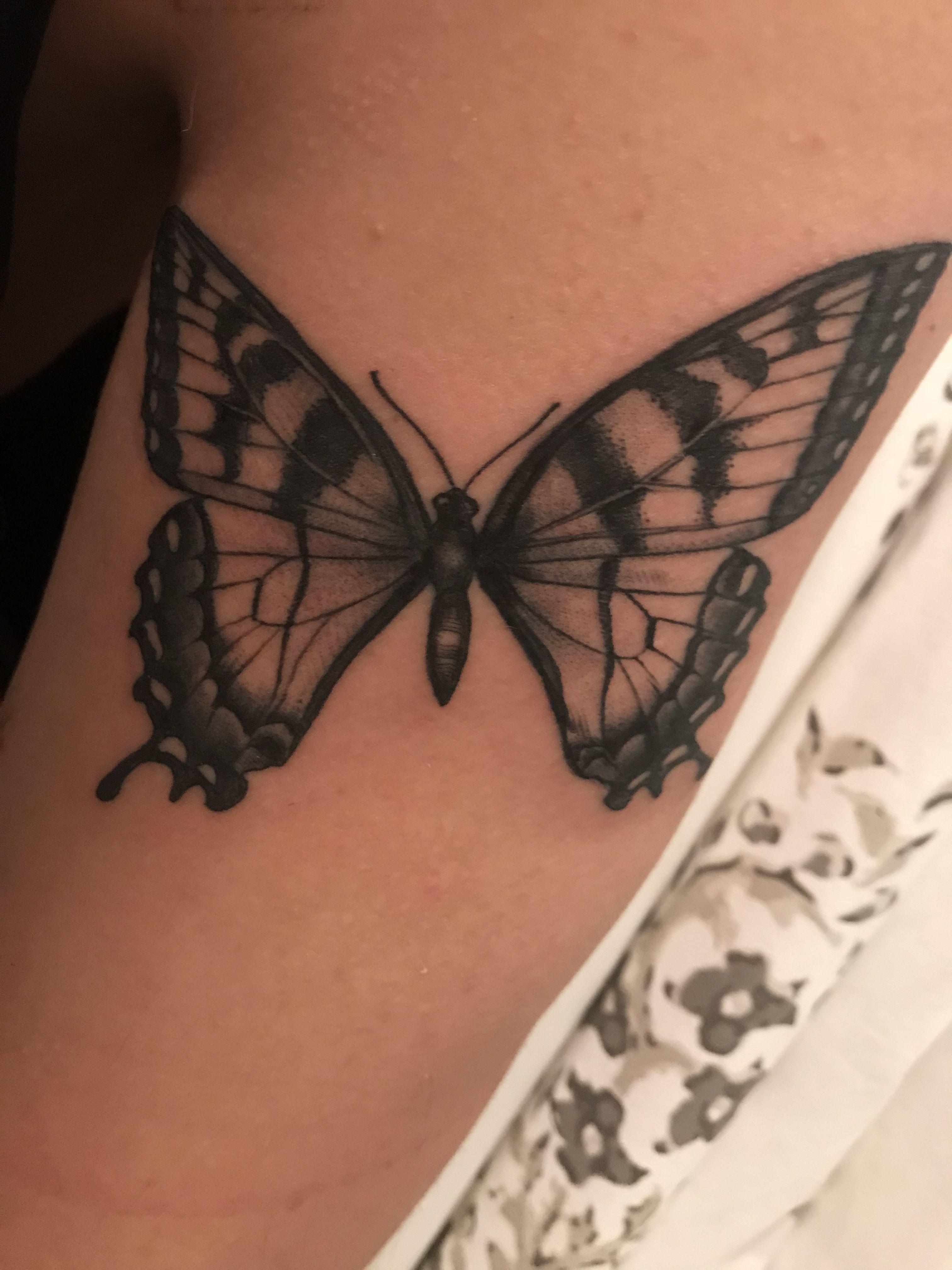 Eastern Tiger Swallowtail Tattoo Butterfly Tattoo Watercolor Butterfly Tattoo Piercing Tattoo