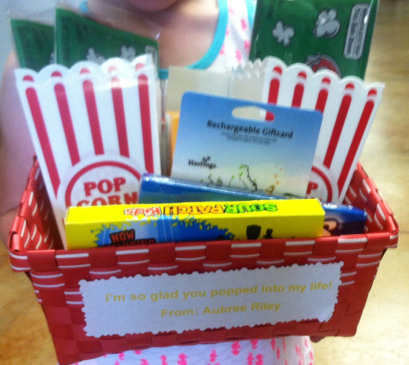 Fun gift basket for my daughters teacher on the last day of school.