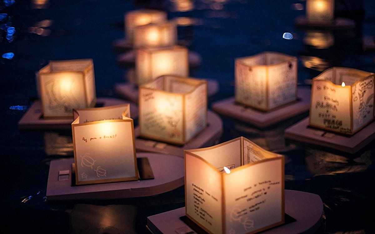 Water Floating Candle Lanterns Outdoor Biodegradable Lanterns For Praying Set Of 10 4 3 Inch Wish Lanterns Floating Lanterns Candles