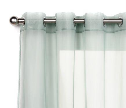Visillo con ollaos inspire polyone verde agua leroy - Barras cortinas leroy merlin ...