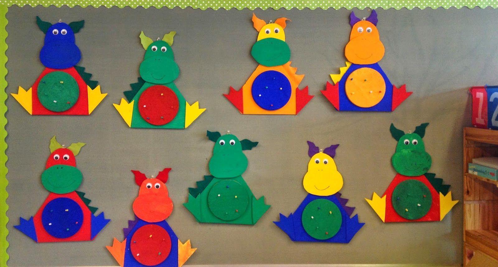 Klassenkunst drachen pinnwand 2 0 geburtstagskalender for Drachen basteln im kindergarten