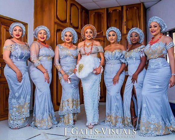 13 7k Likes 62 Comments No 1 Nigerian Wedding Blog Nigerianwedding On Instagram Lovel African Bridesmaids African Bridesmaid Dresses Bridesmaid Dresses