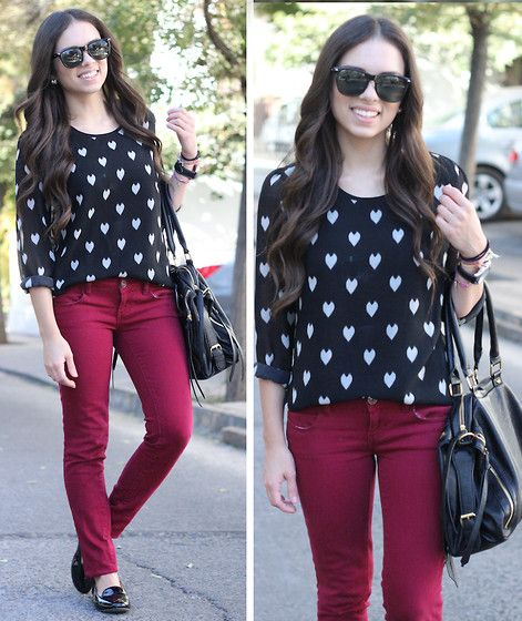 Pin by Lovers Leap Bakery on fashion | Maroon pants, How to