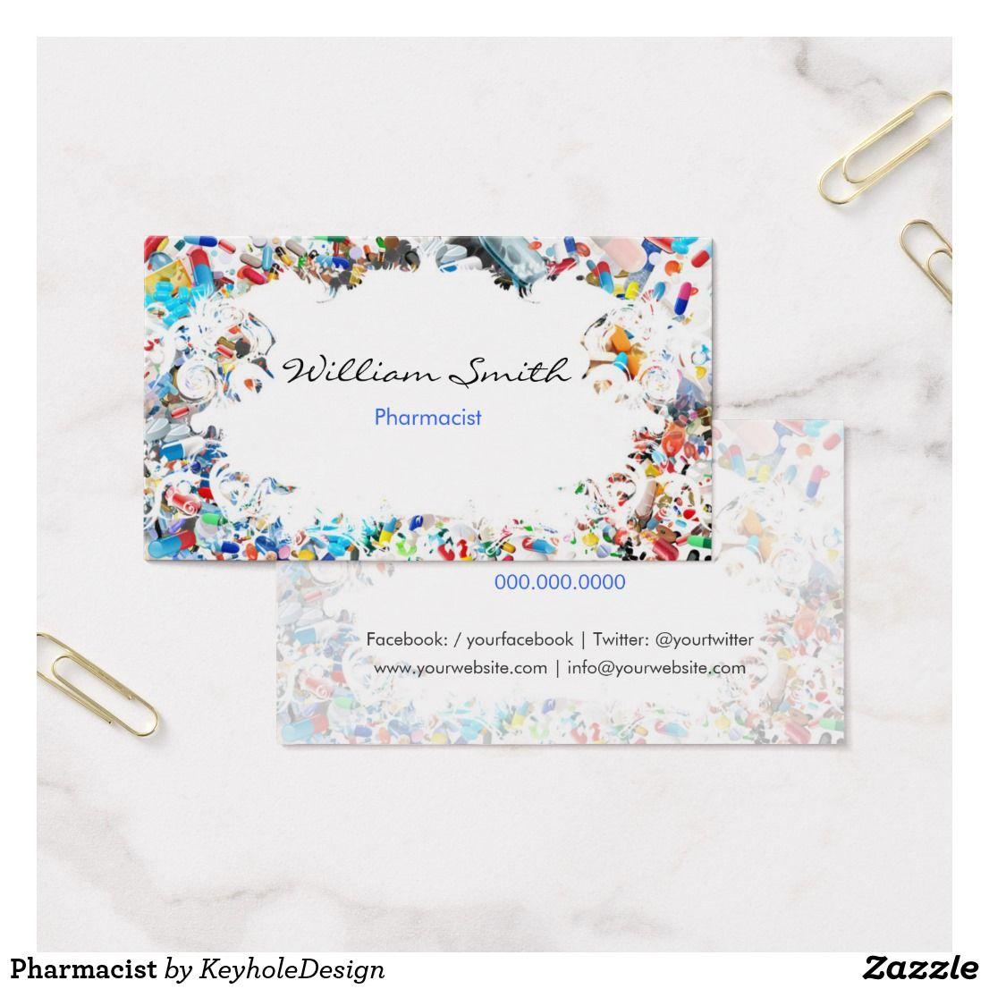 Pharmacist Business Card | Pinterest | Pharmacists, Business cards ...