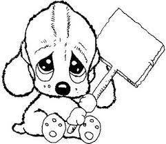 Resultado de imagen para imagenes de perros tiernos para pintar