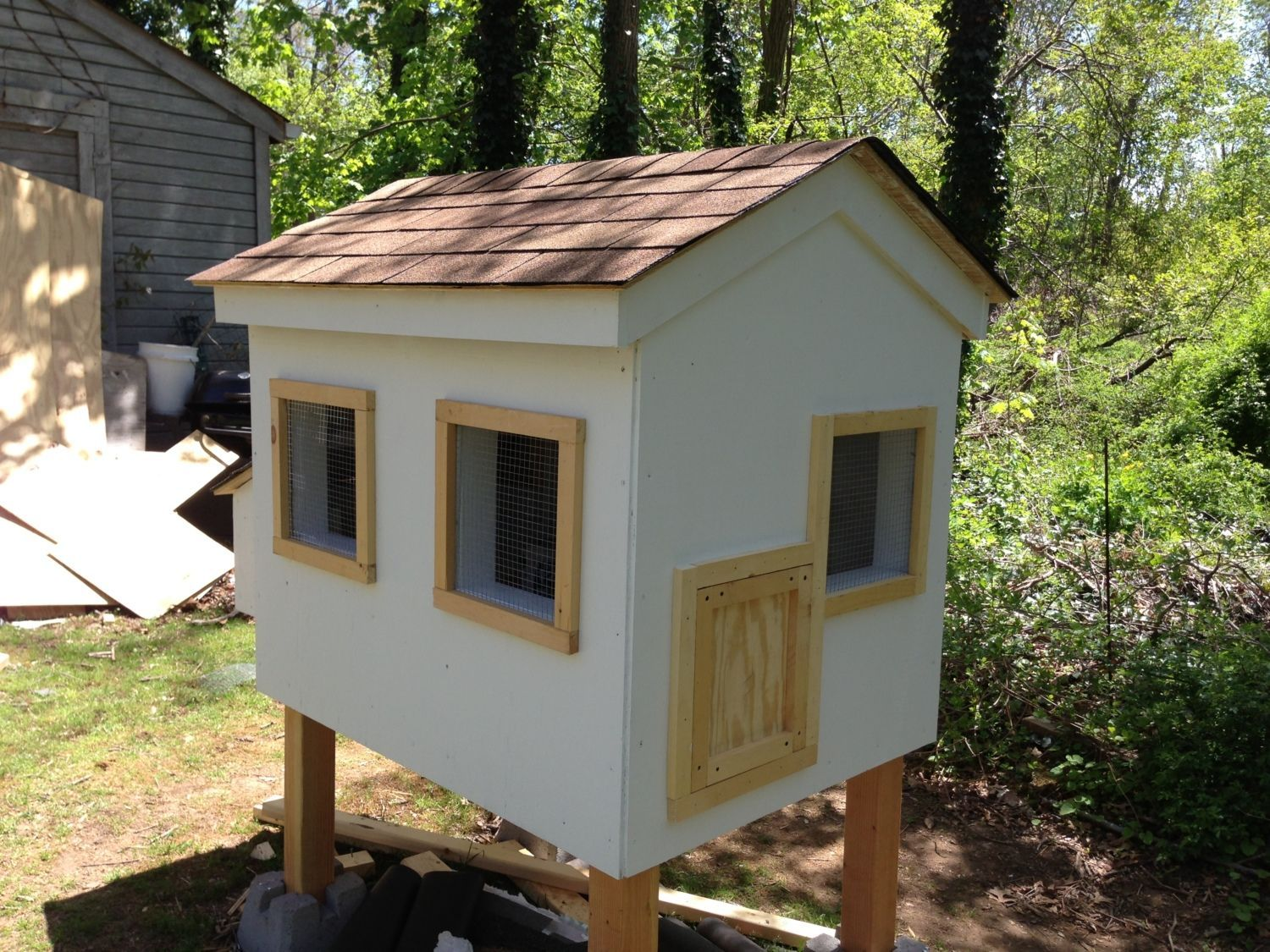 a colorful diy chicken coop plan with an attached run a gorgeous