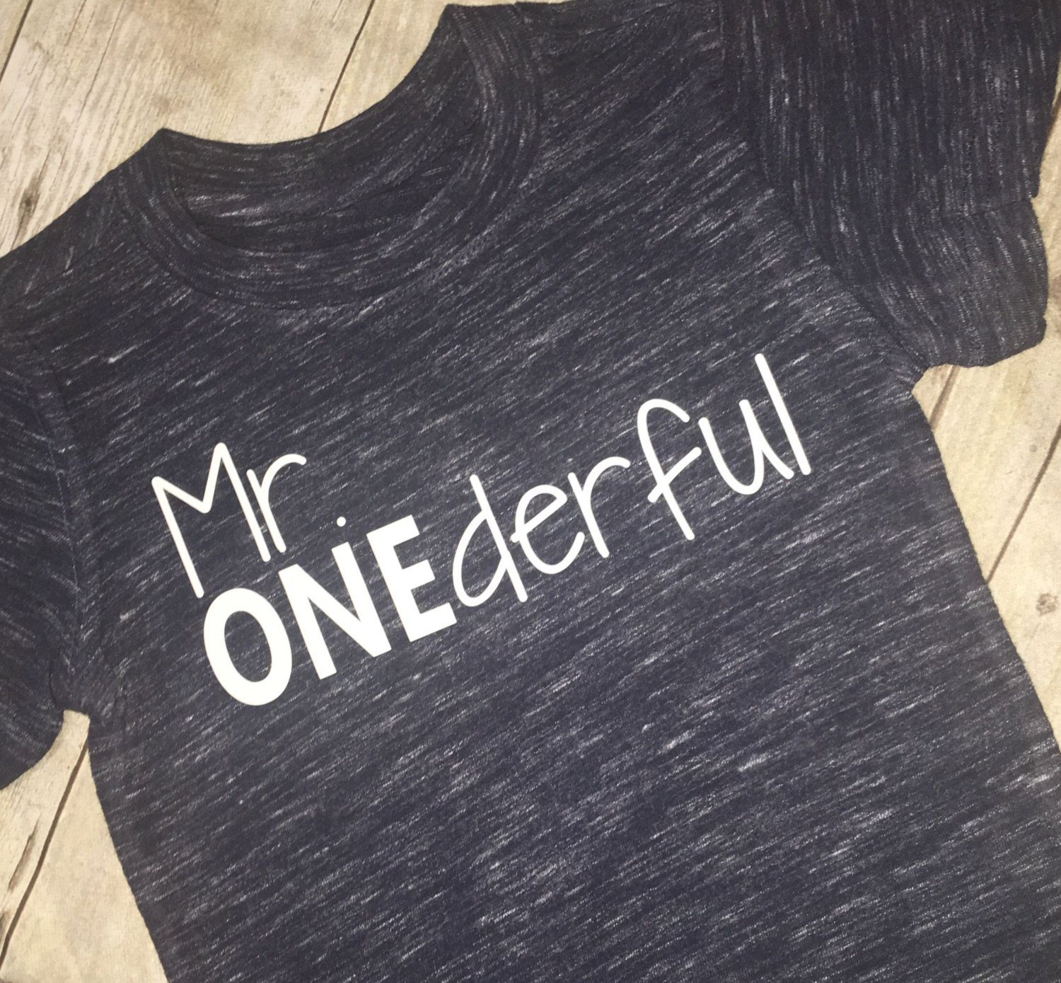 Mr ONEderful Tee Shirt Boys Birthday First 1st