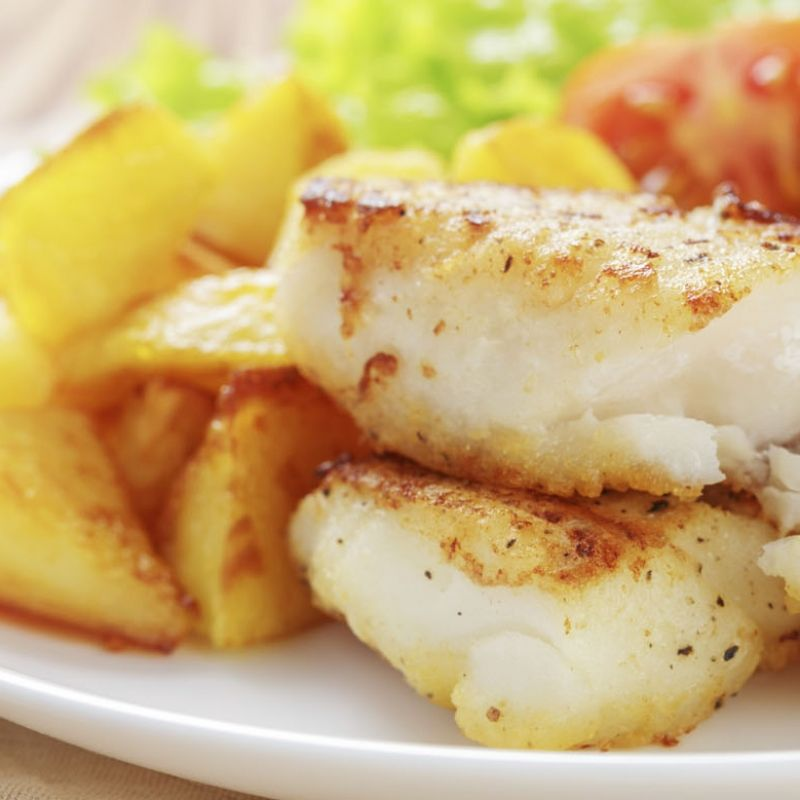 This baked cod recipe is first pan fried so it gets nice for Baked cod fish recipes