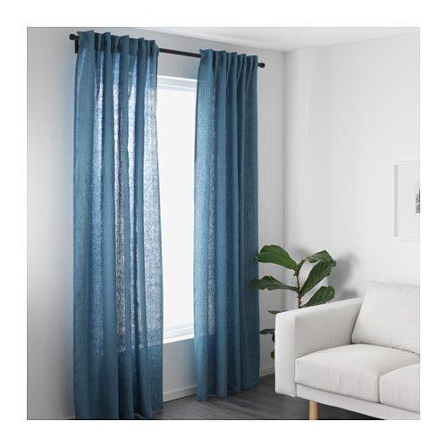 AINA Gardinenpaar, blau Blau, Wohnzimmer und Einrichtung - vorhange wohnzimmer blau
