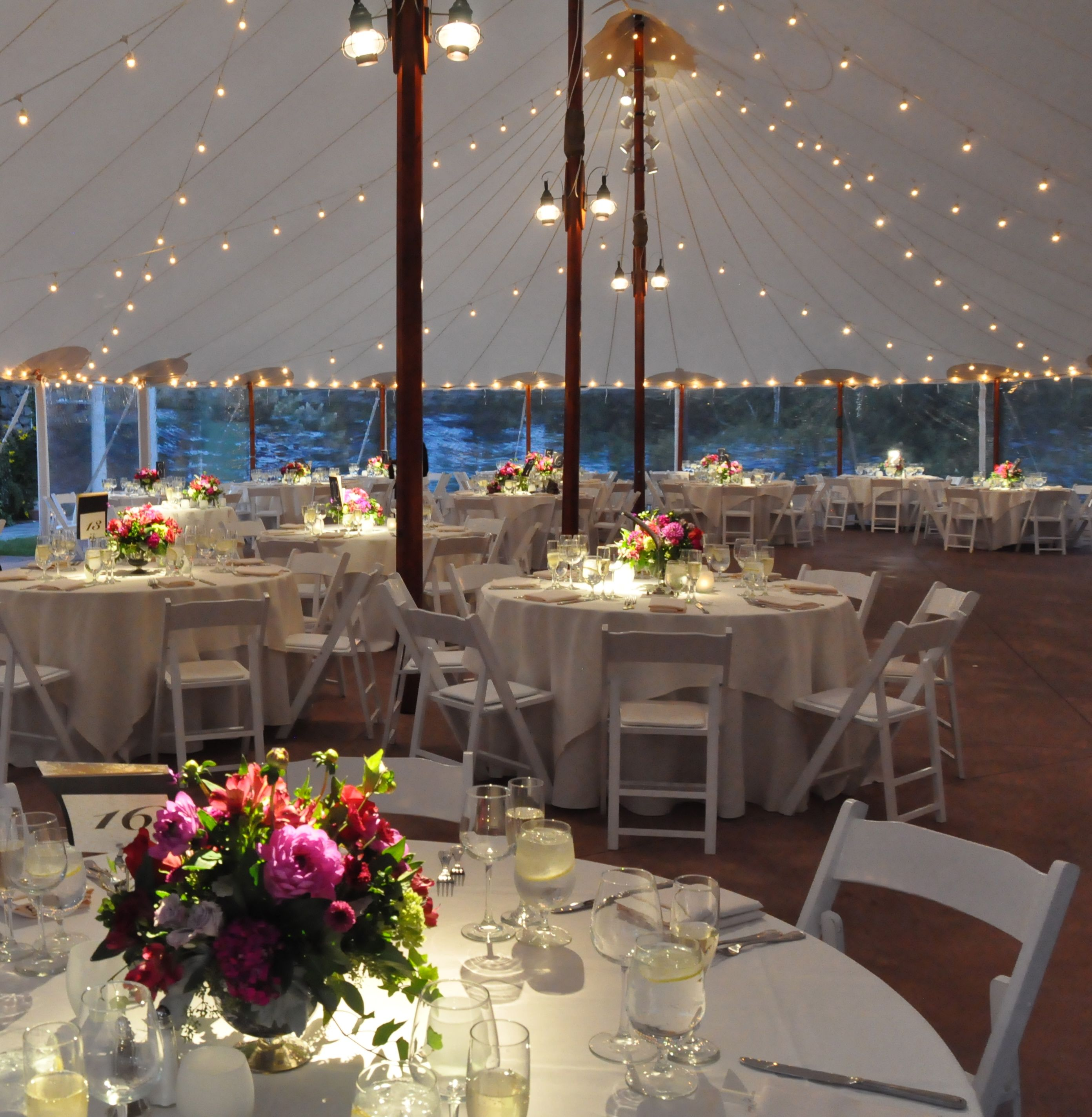 String lighting and pinspots in the Sperry Tent at Willowdale Estate //revprod & String lighting and pinspots in the Sperry Tent at Willowdale ...