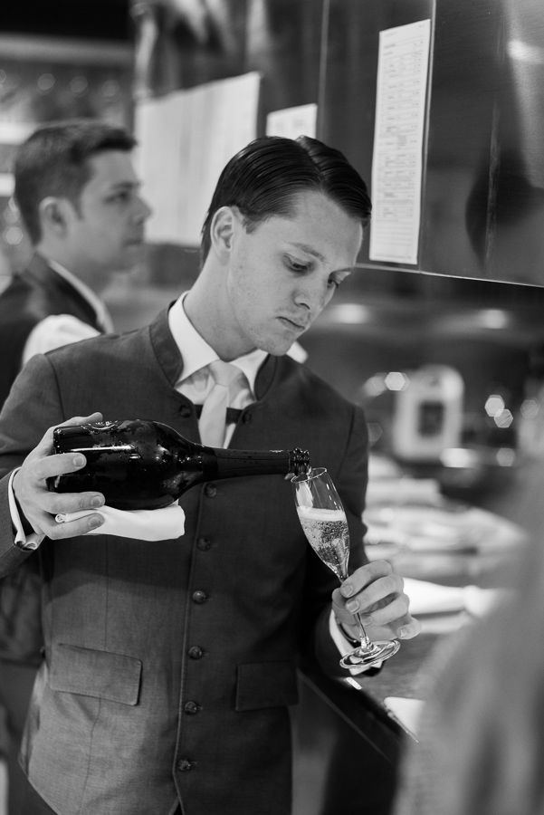 Pouring Champagne. #2GreatChefs #AlainDucasse #WolfgangPuck