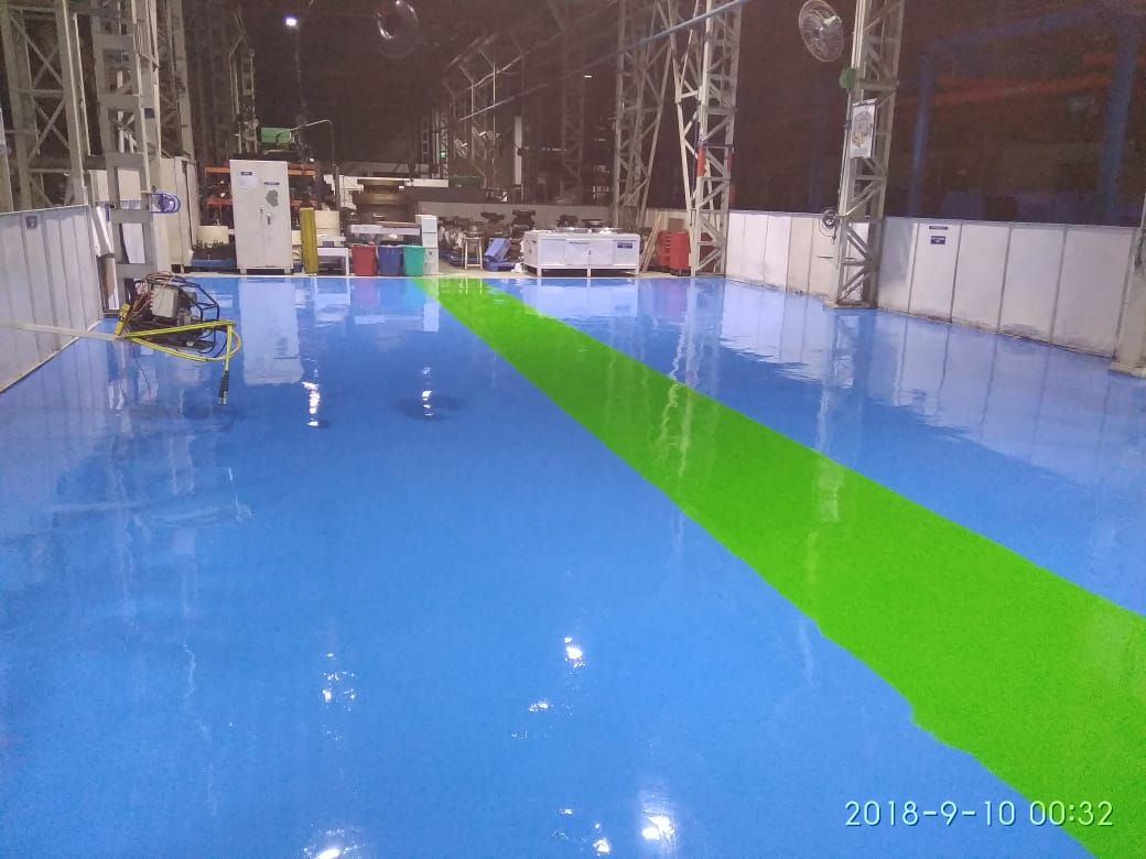 We Are Specialized In The Epoxy Floor Paint Or Polyurethane We Work With Major Industry Laboratories Pharmaceuti Epoxy Floor Flooring Contractor Painted Floors