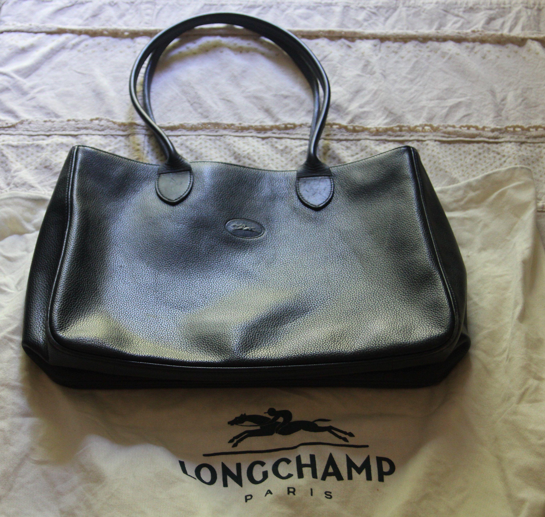 Marine ÉtatGrand Bleu VintageTres Longchamp ParisCuir Bon Sac e9EHYD2IW