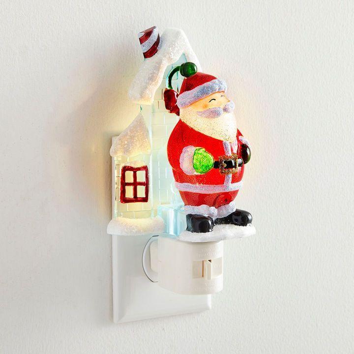 North Pole Trading Co Santa Night Light North pole, Santa and Lights