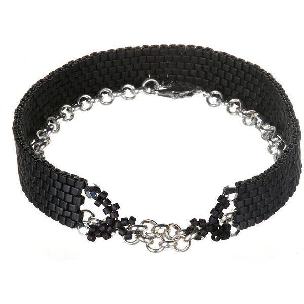 Black beaded wrap bracelet ($78) ❤ liked on Polyvore featuring jewelry, bracelets, black wrap bracelet, beads jewellery, beading jewelry, kohl jewelry and beaded jewelry