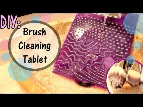 DIY makeup brush cleaning tablet, so much cheaper than a makeup brush glove and is amazing