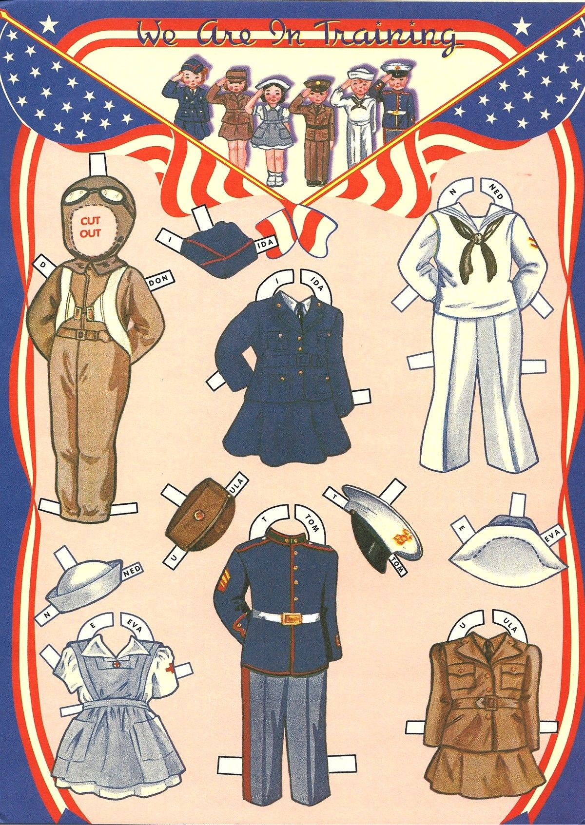 Patriotic Paper Dolls image by Susan McEntire Paper