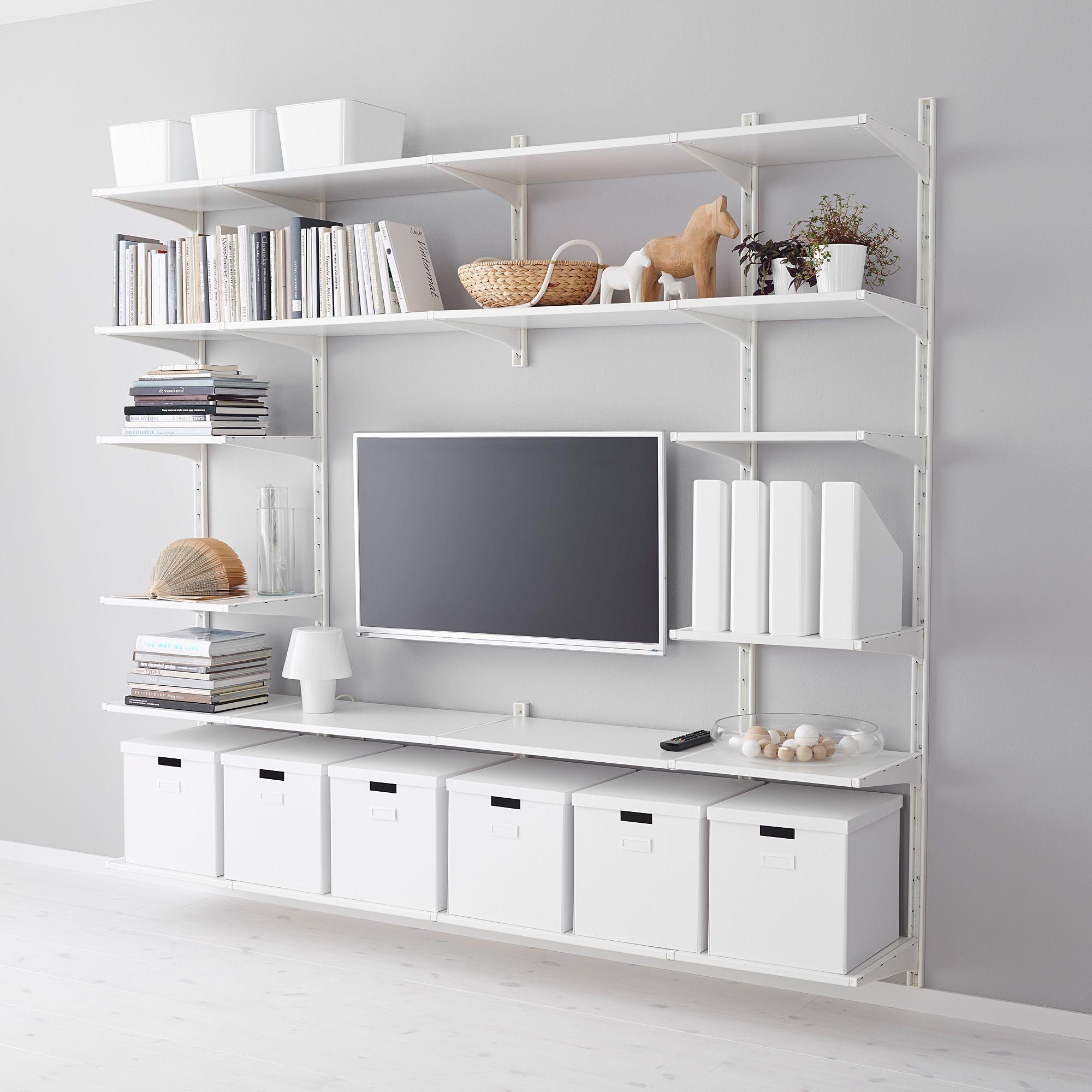 ALGOT Crémaillère/tablettes - blanc - IKEA en 2020 | Rangement mural ikea, Ikea algot, Ikea