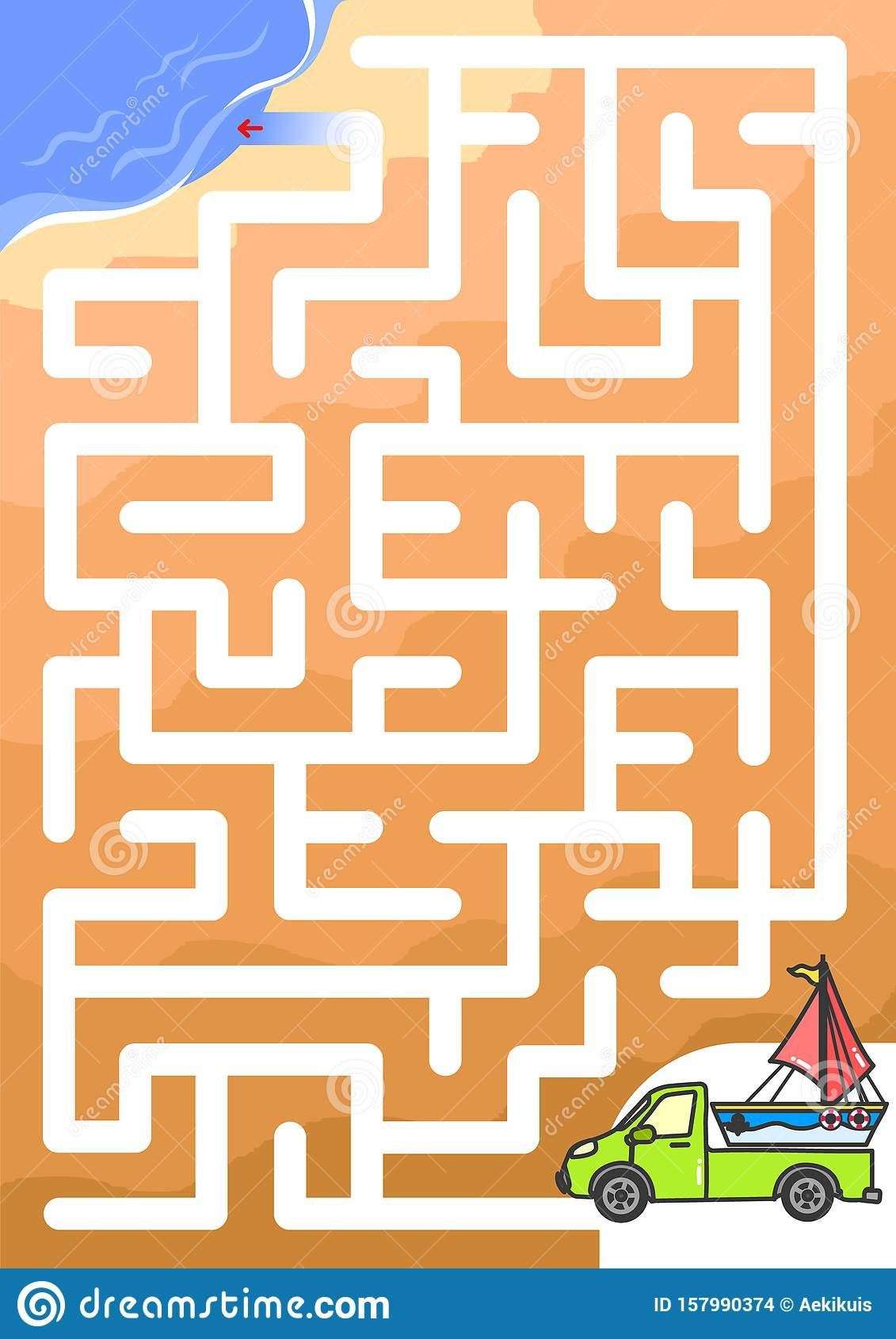 Worksheet For Education Maze Game Help The Car To Find
