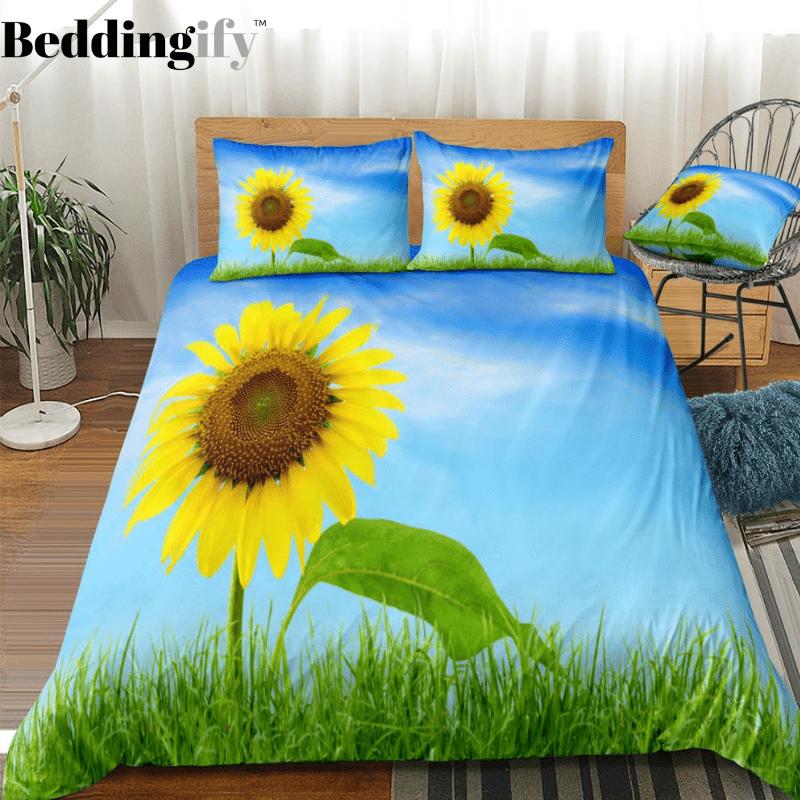 Sky Sunflower Bedding Set In 2020