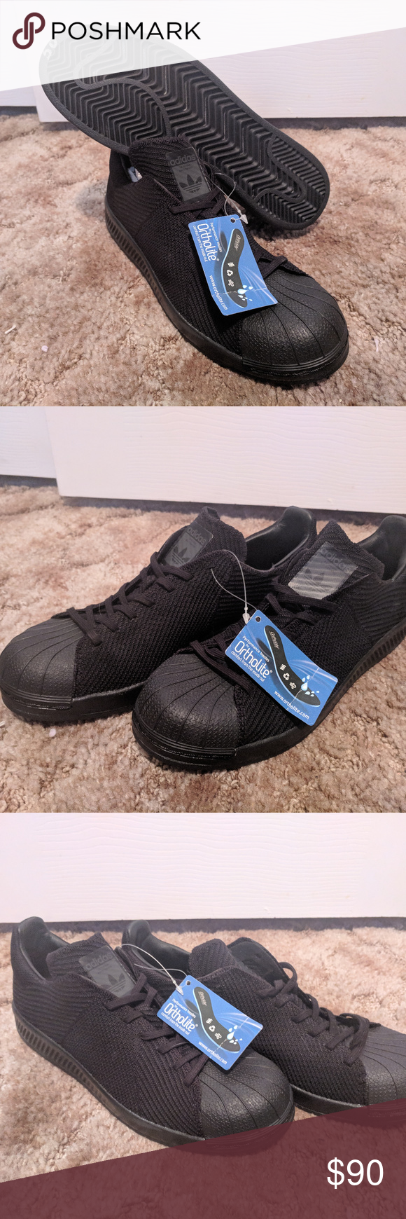 e92f87b198ae7 Adidas Superstar Bounce Primeknit Adidas Originals Superstar Bounce  Primeknit Size 9.5 Style Code S82241 Color Triple Black New without Box adidas  Shoes ...