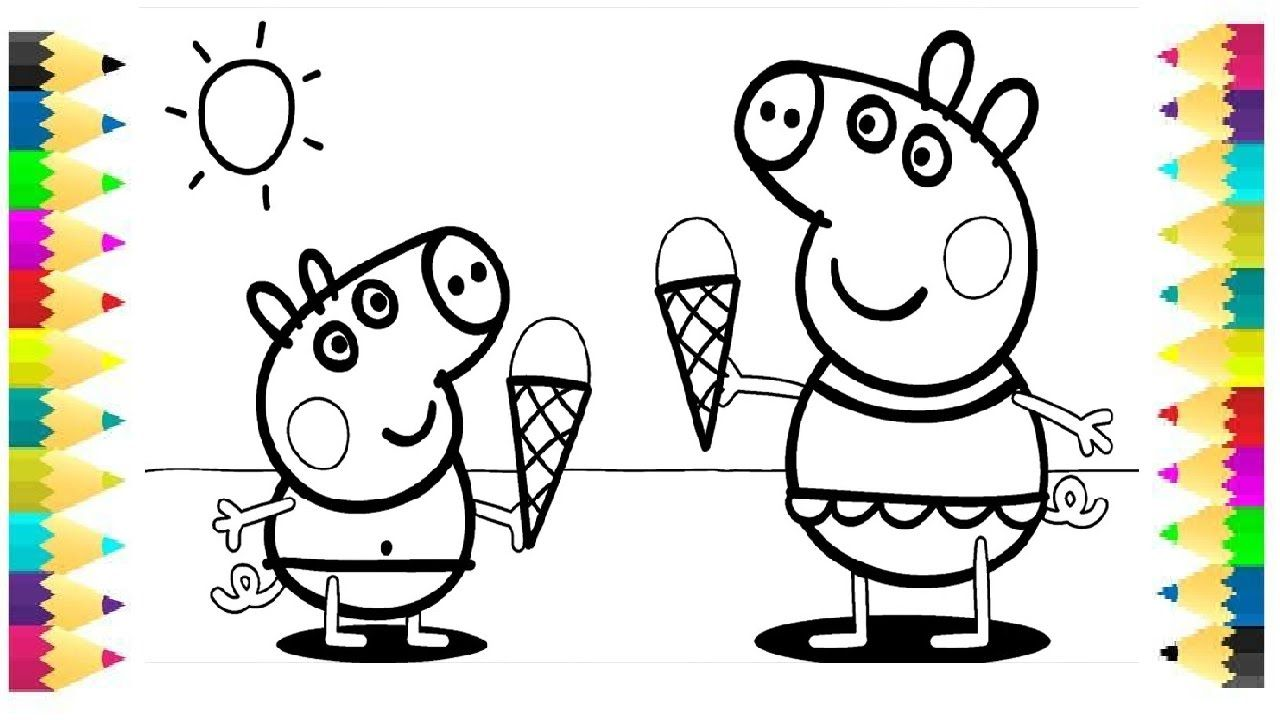 Peppa Pig Coloring Pages For Kids Peppa Coloring Book Coloring Video Peppa Pig Coloring Pages Peppa Pig Colouring Fairy Coloring Pages