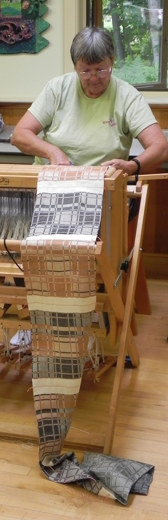 Woven in Robyn Spady's Block Weaves class at Sievers School of Fiber Arts.