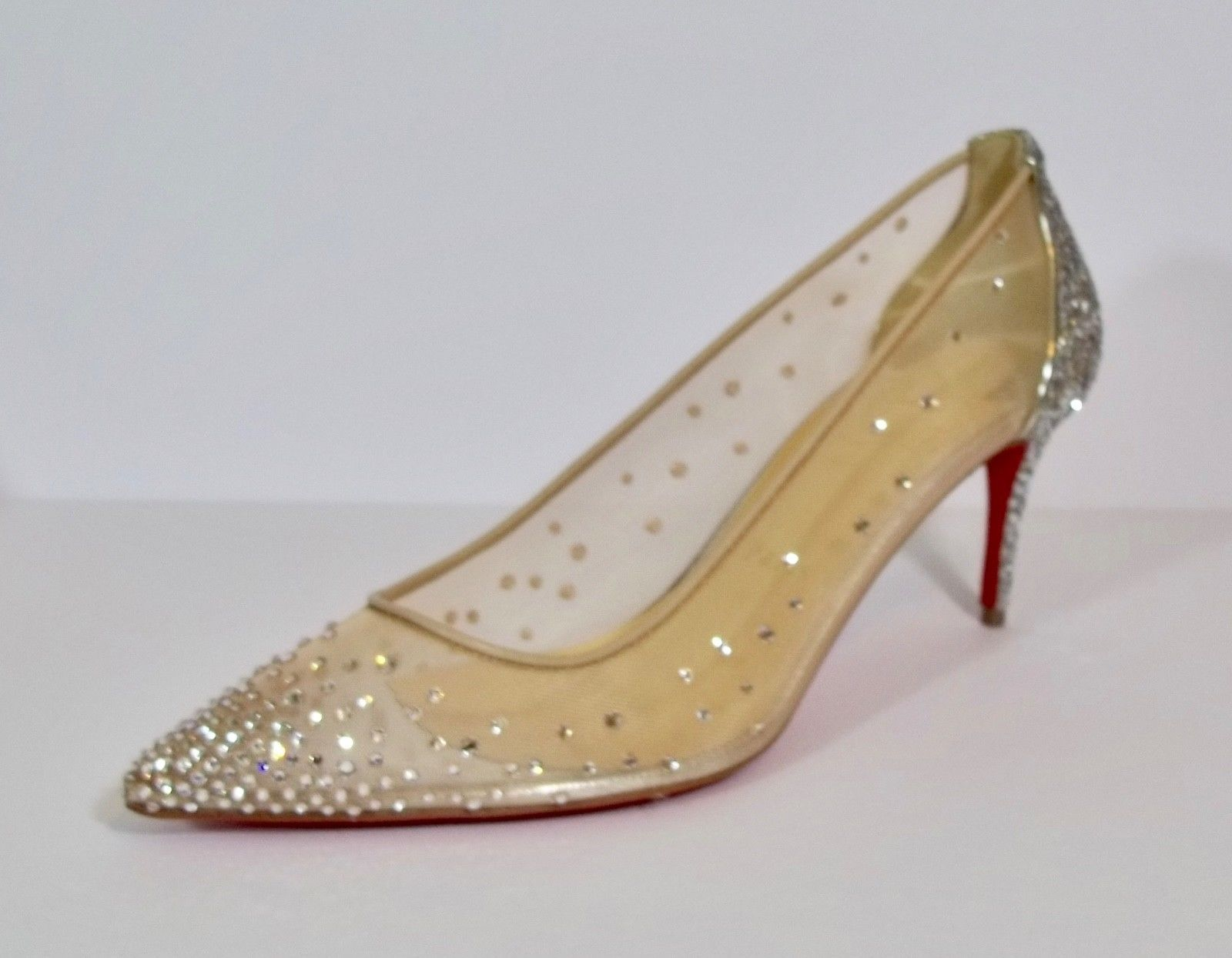online store c15ae 0e737 Christian Louboutin *Authentic* Follies Strass 70 Crystal Sz ...