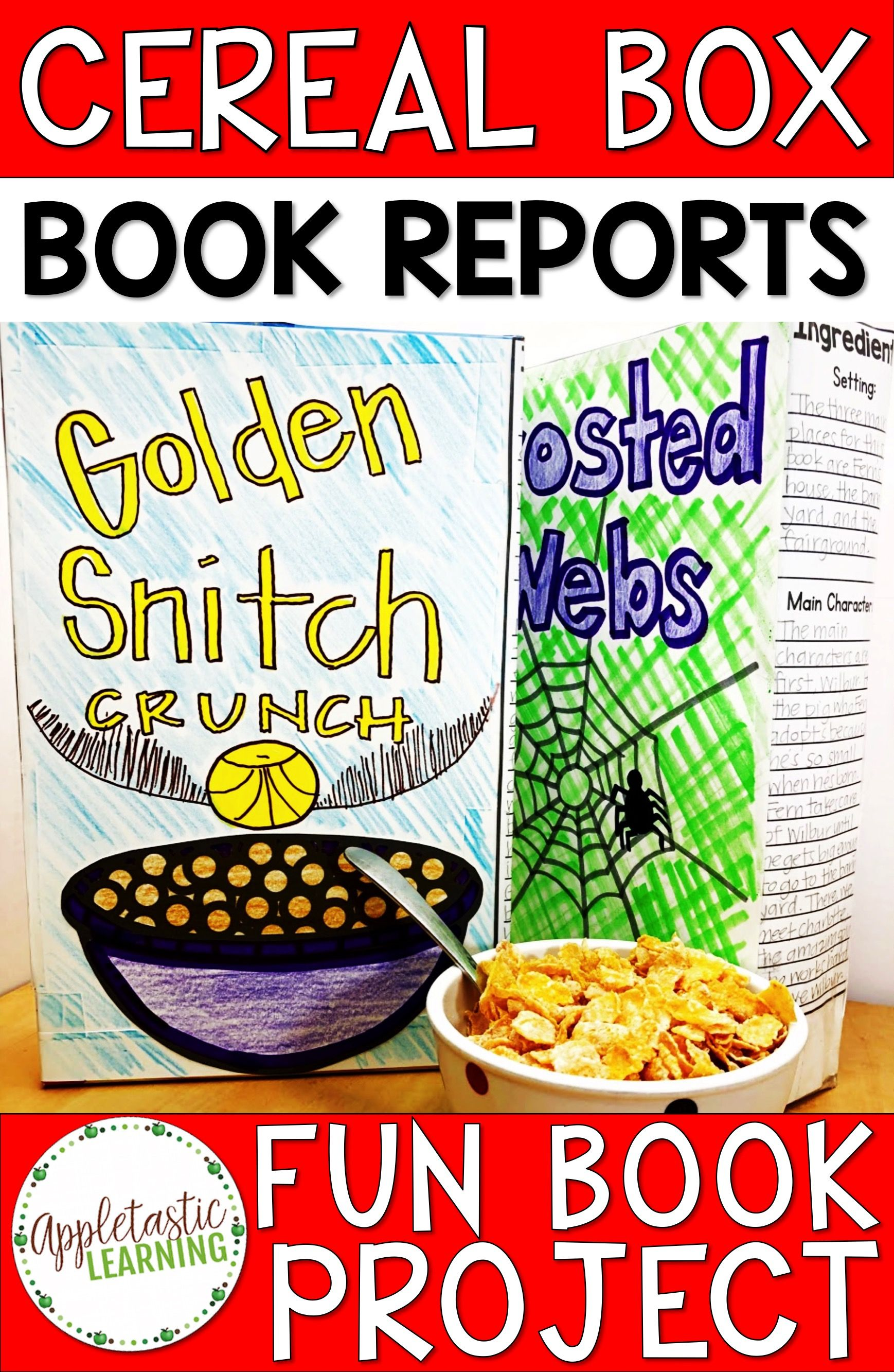 Cereal Box Book Report Project