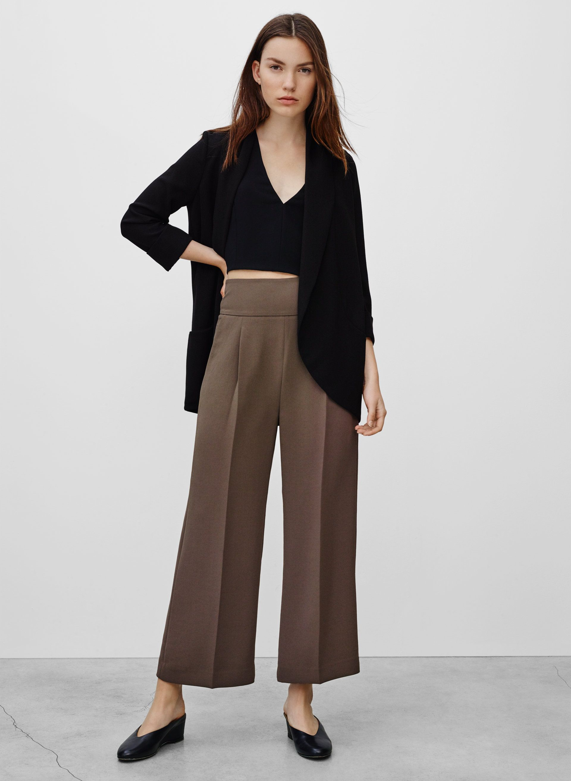 Chevalier jacket | Blazers, Capsule wardrobe and Wide leg pants