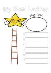 Worksheets My Goals Worksheet english worksheet my goal ladder school pinterest ladder
