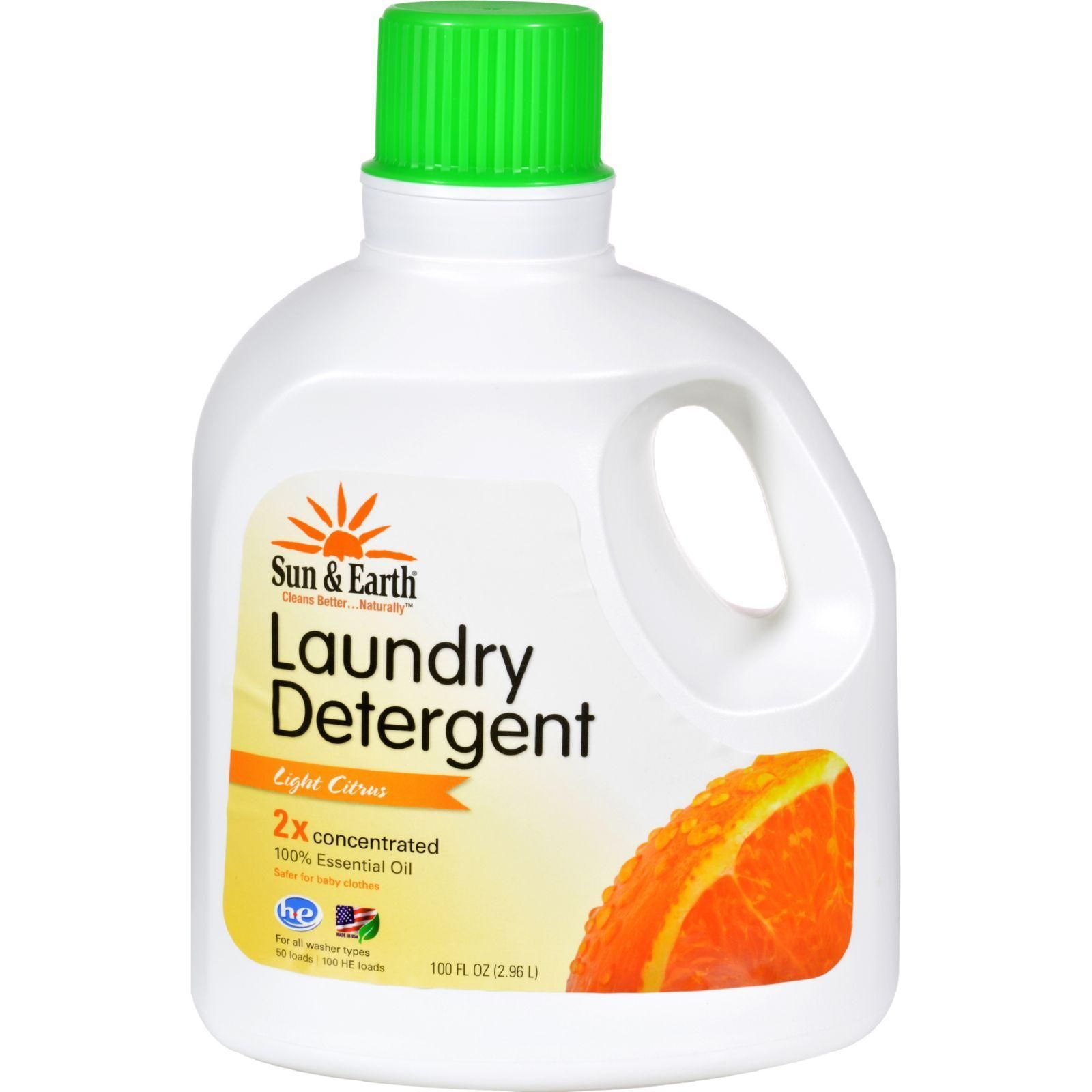 Sun And Earth Natural Laundry Detergent Light Citrus Case Of 4