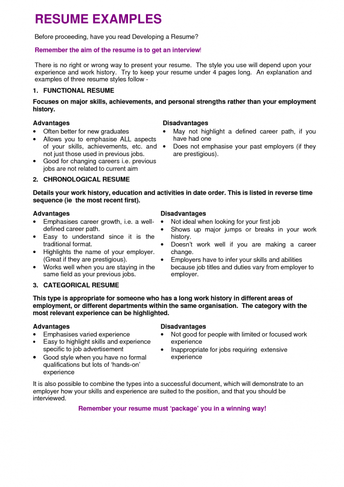 Resume Examples Varied Experience Resume Objective Statement