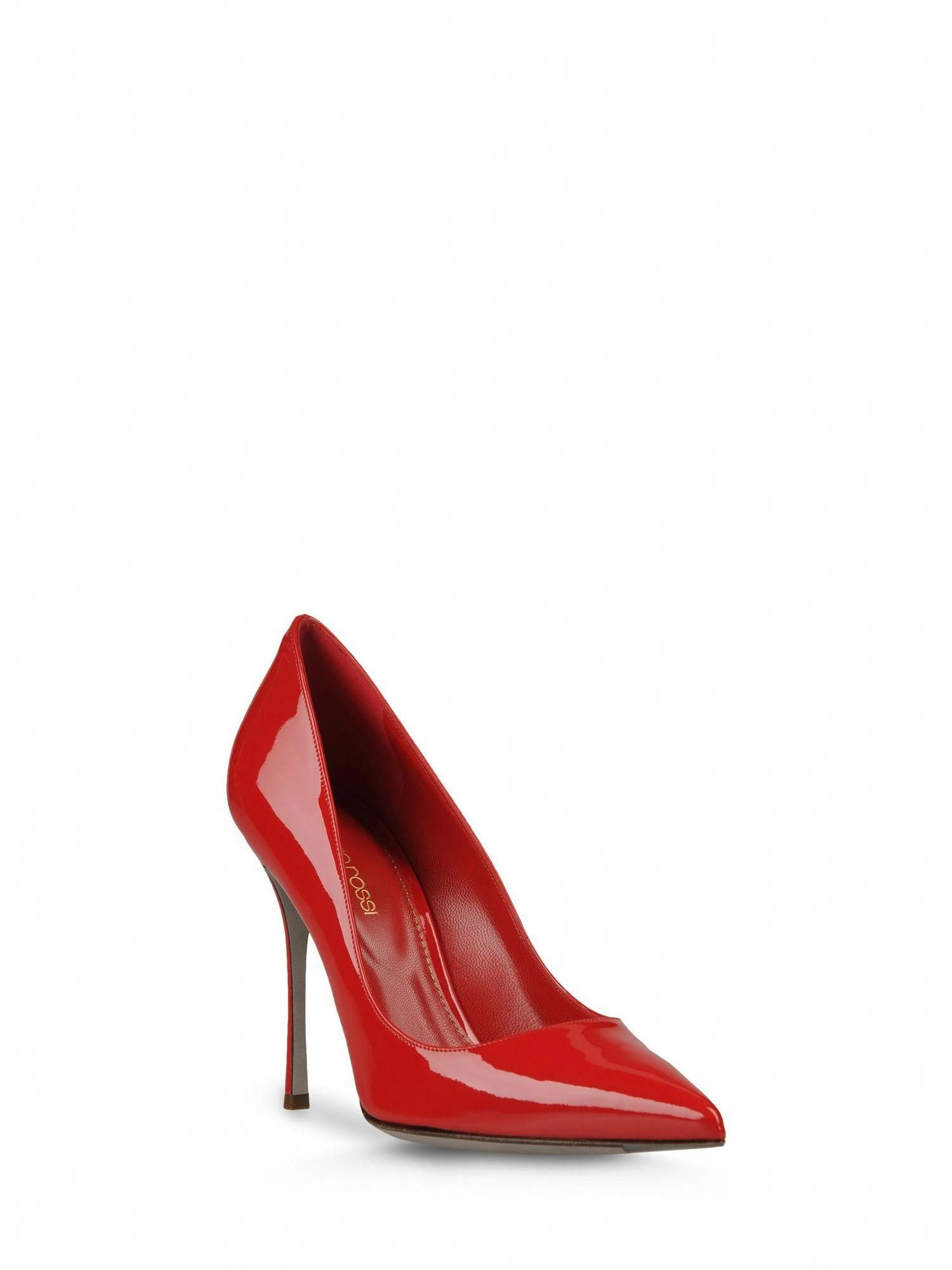 9548f12ecea7b4 Sergio Rossi - Godiva - A43842MVIV016650 - Red patent leather pump. -  Pumps. Varnished effect
