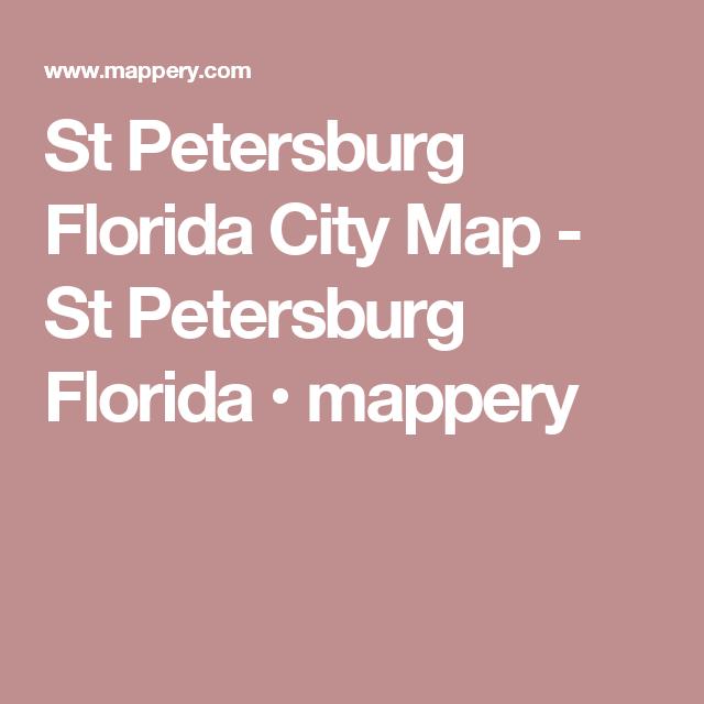 Map Of St Petersburg Florida.St Petersburg Florida City Map St Petersburg Florida Mappery