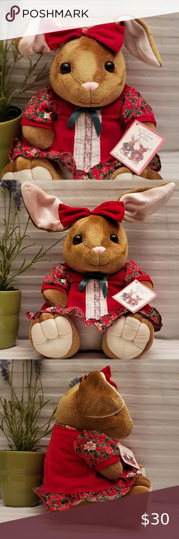 Vtg 1985 Velveteen Rabbit Plush Girl Rabbit Plush Velveteen Rabbit Velveteen