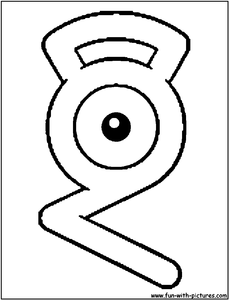 Unown G Coloring Page Pokemon Coloring Pages Pokemon Coloring Elsa Coloring Pages