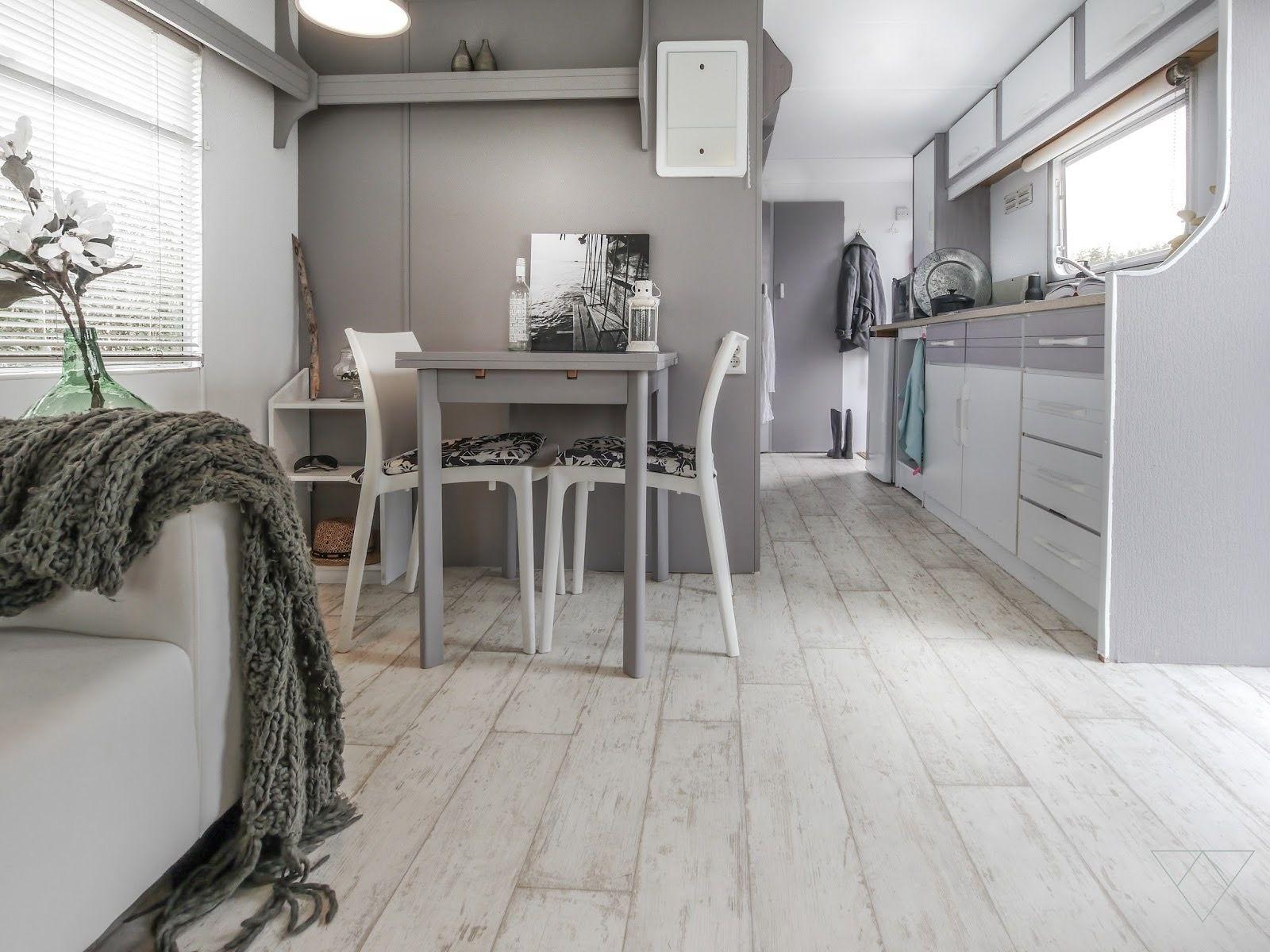 Witte laminaat of vinyl vloer studi in 2018 caravan caravan
