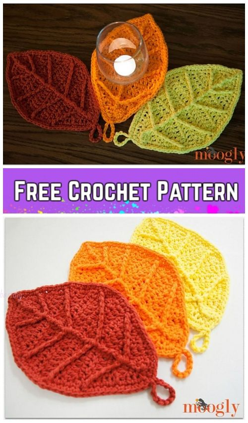 Crochet Fall Leaves Free Crochet Patterns & Paid in 2018 | Autumn ...