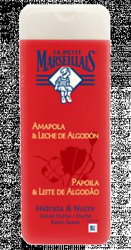 LE PETIT MARSEILIAIS Gel de Ducha Amapola & Leche de Algodón 400ml, al mejor precio. entra en la web todastuscompras.com / código invitación 225