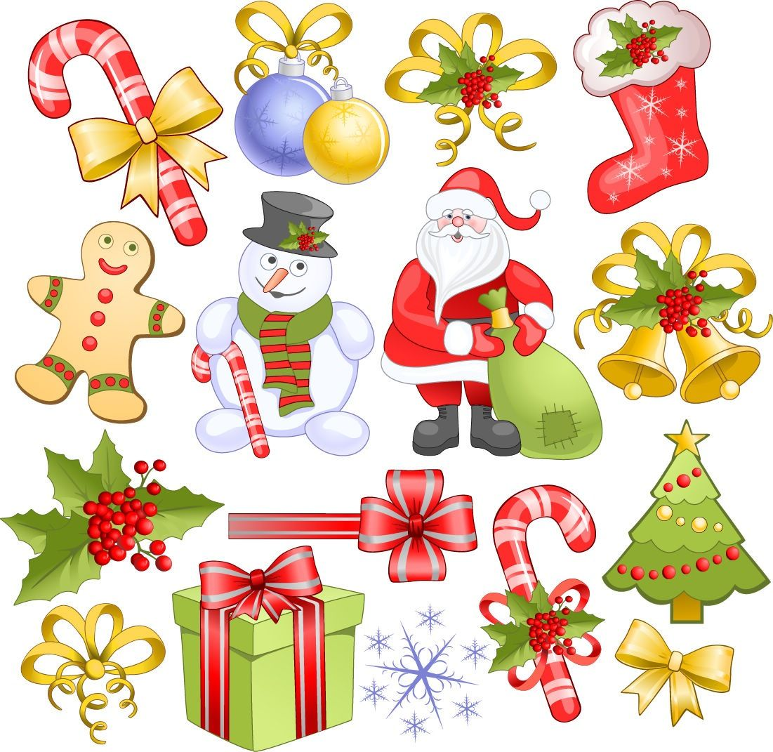 Christmas Clip Art Free Downloads Christmas Elements Set