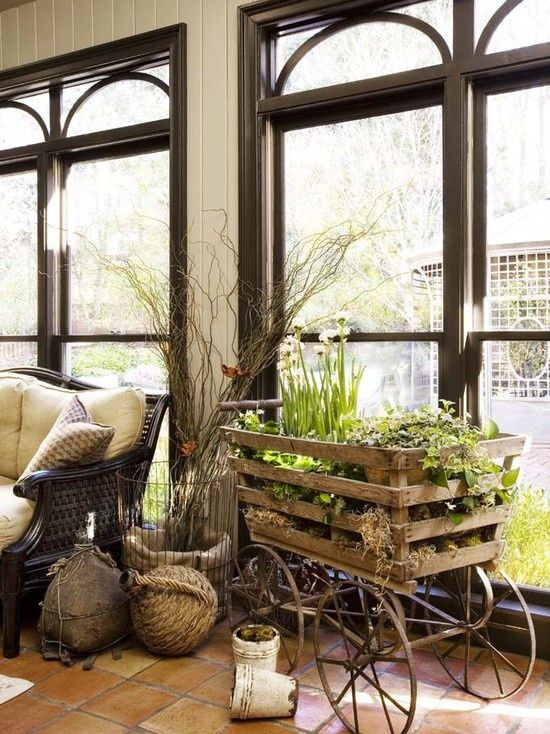 Rustic Sunroom via Pinterest | Rustic sunroom, Traditional ... on Traditional Rustic Decor  id=83854
