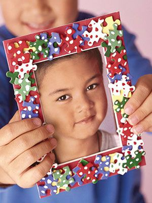 Kid\'s Craft Project: Puzzle Picture Frame | Create, Craft and Babies