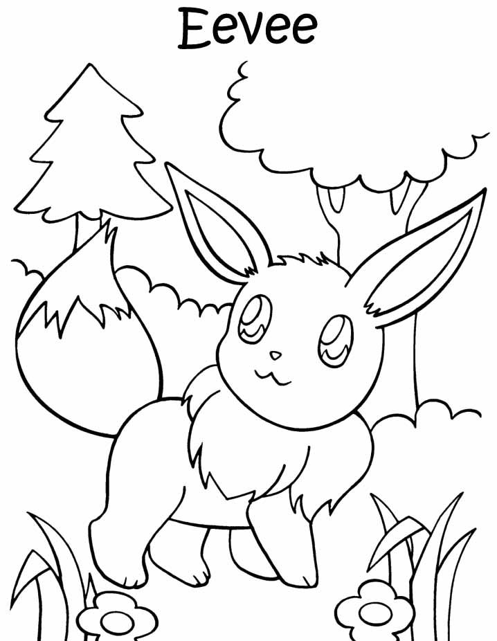 An Eevee Colouring Page Must Print This Later D Eeveelutions Pokemon