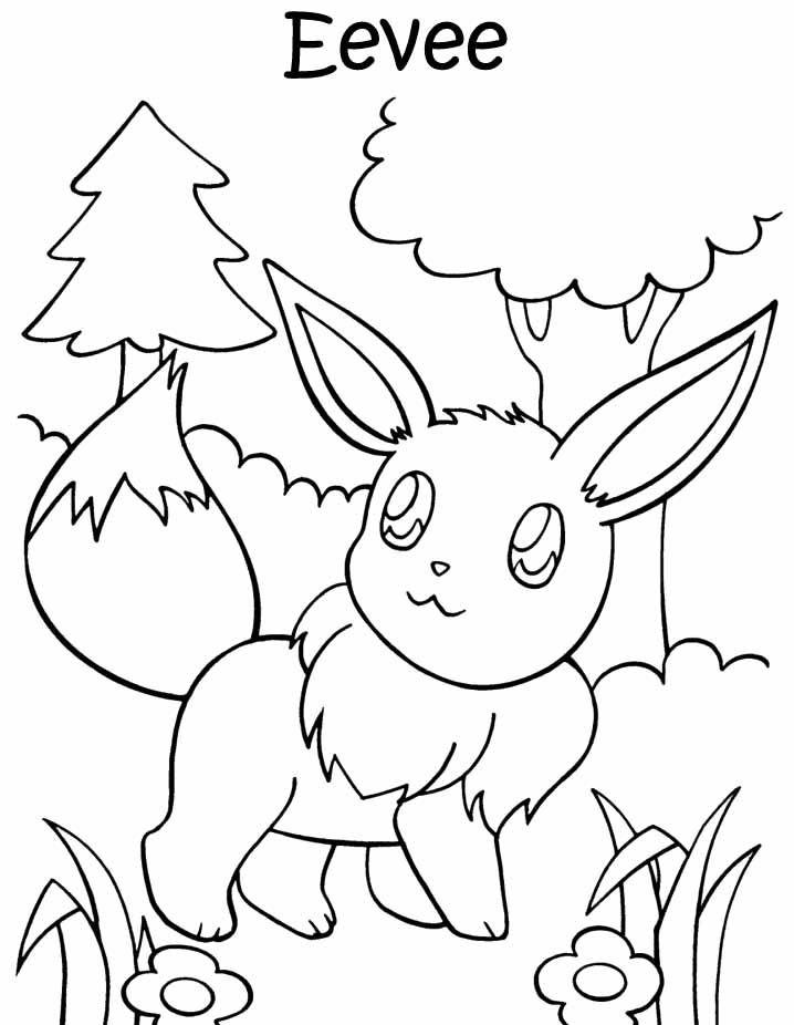 Pokemon Eevee Coloring Page Cartoon Coloring Pages Pokemon Coloring Pages Animal Coloring Pages