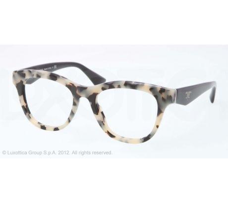 3084cd745cd2 Prada PR04QV Eyeglass Frames KAD1O1-49 - White Havana Frame | Specs ...