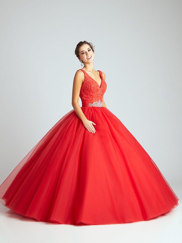 Vestido De 15 Años Rojo Tipo Princesa Alquiler De Vestidos
