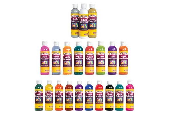 Colorations Classic Colors Liquid Watercolor Paints 8 Oz Set