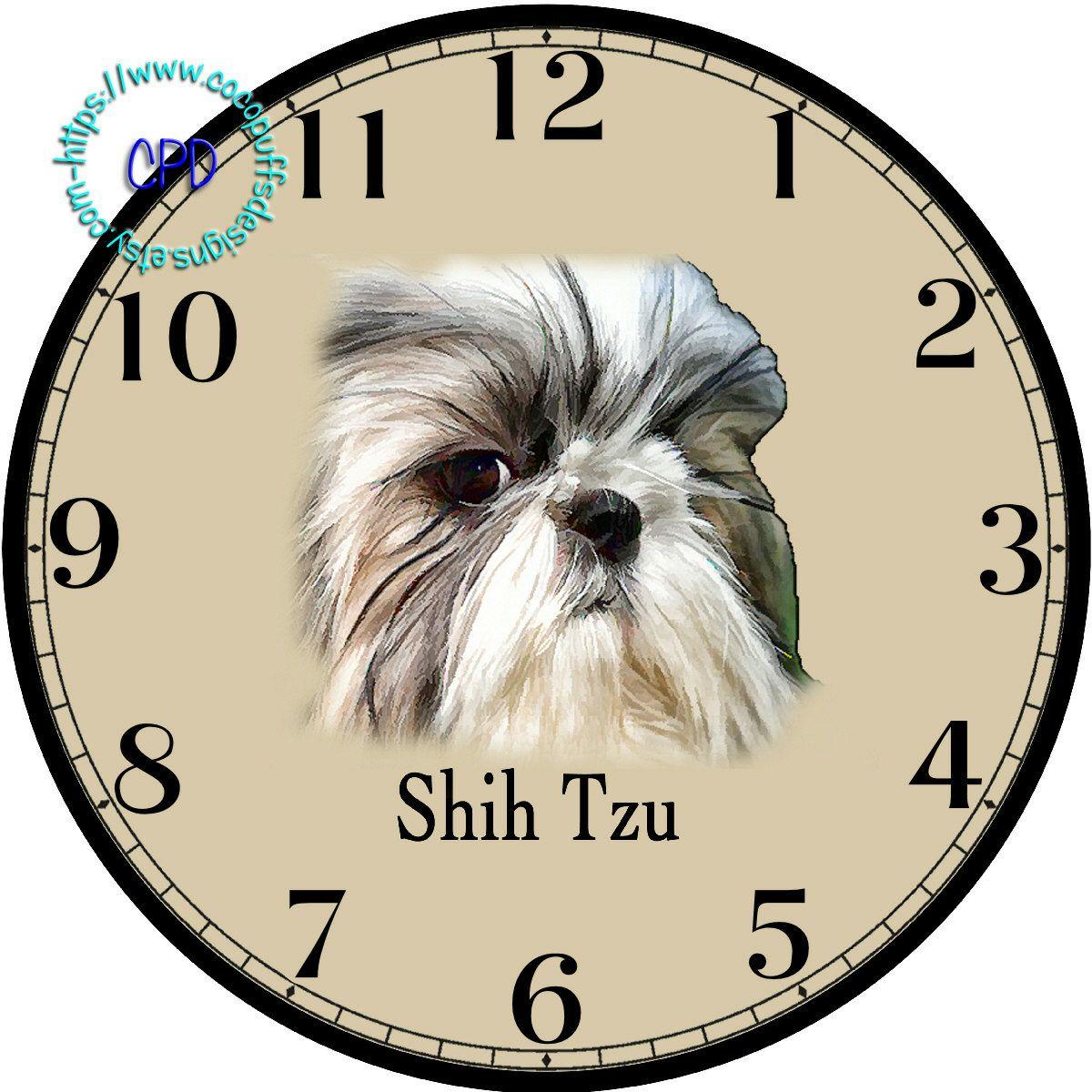 White u black shih tzu little dog art diy digital collage