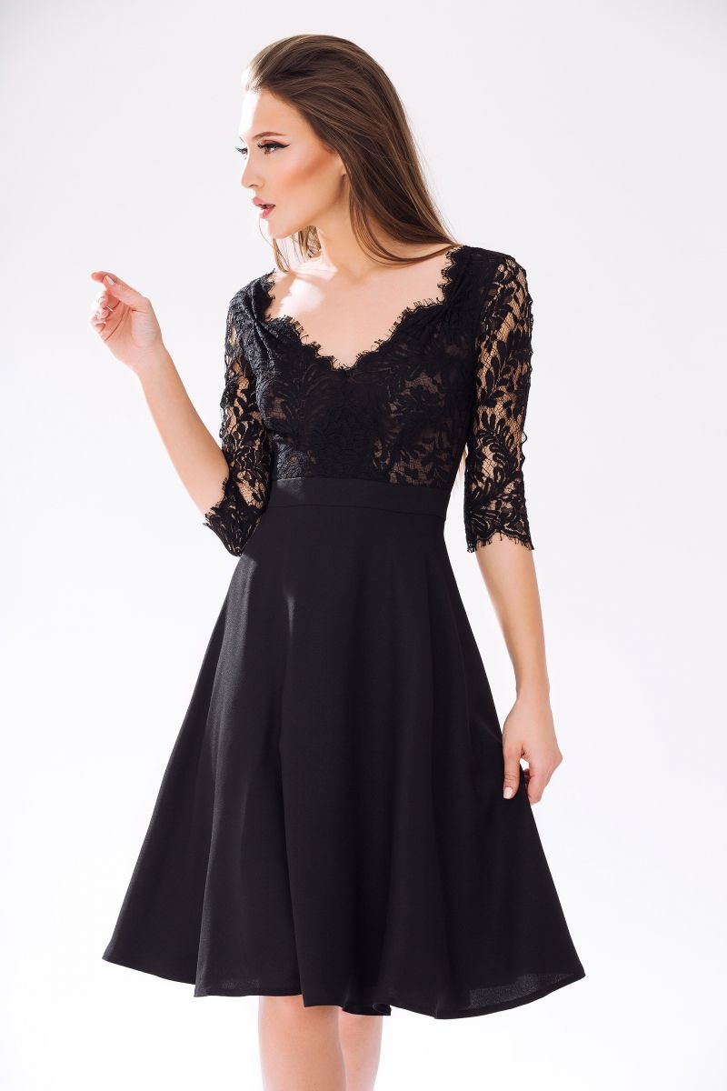 Cocktail Dress Ska370 Cristallini Black Party Dresses Chiffon Ruffle Dress Chiffon Cocktail Dress